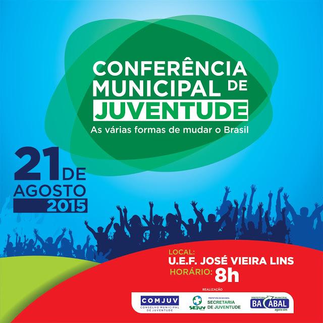 Convite para Conferência Municipal da Juventude 2015 em Bacabal – MA