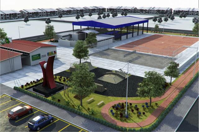 COMJUV visita construção da Praça da Juventude de Bacabal com previsão de entrega para dezembro de 2015