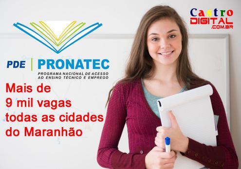 Inscrições para mais de 9 mil vagas em cursos do Pronatec 2015.2 em todas as cidades do Maranhão