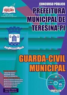 Edital do concurso 2015 da Prefeitura de Teresina – PI para Guarda Municipal