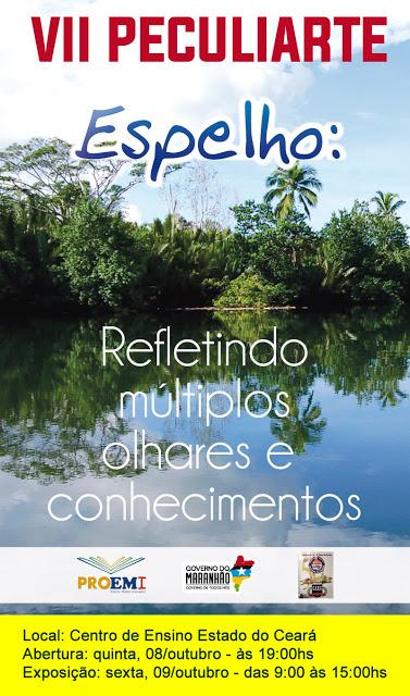 Convite para o Peculiarte 2015, feira multidisciplinar na Escola Estado do Ceará, em Bacabal – MA