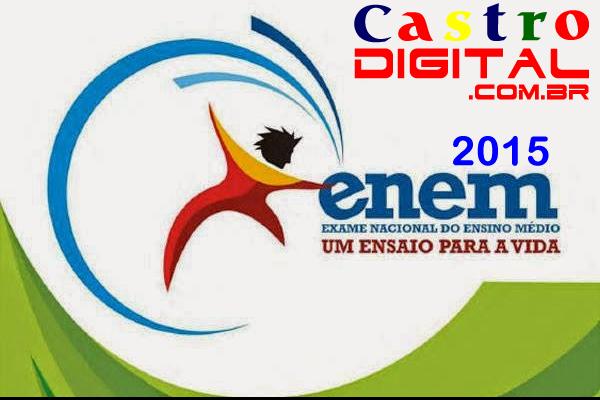 Local de prova do ENEM 2015 e cartão de confirmação de inscrição