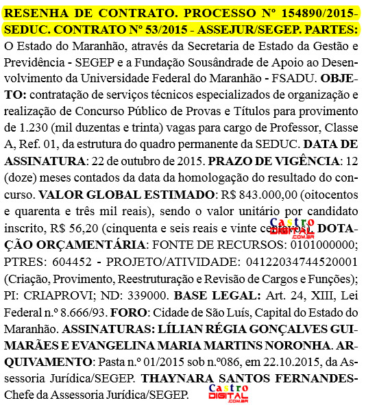 Definida organizadora do concurso 2015 para professor do Maranhão com ínfimas vagas