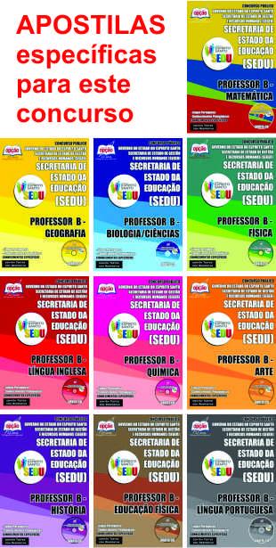Apostilas para o concurso 2015 de professor do Espírito Santo – rede estadual Sedu/Seduc-ES