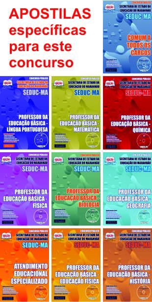APOSTILAS para o concurso 2015 de professor do Maranhão - Seduc-MA