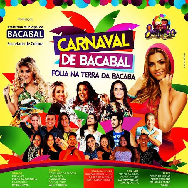 Programação do Carnaval 2016 em Bacabal – MA