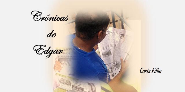 Livro Crônicas de Edgar do escritor Costa Filho, de Bacabal – MA