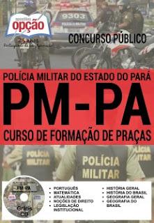 Editais do concurso 2016 da PM-PA (Polícia Militar do Pará) com mais de 2 mil vagas para soldados o oficiais, veja Apostila para você estudar e garantir sua vaga