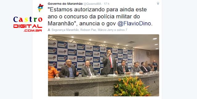 Governo do Maranhão anuncia concurso 2016 para PM-MA (Polícia Militar), veja Apostila e outros materiais para já começar a estudar