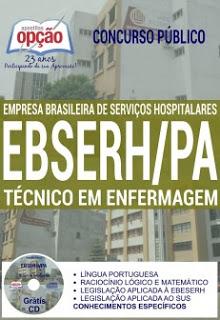 Editais do concurso 2016 da EBSERH-PA para os Hospitais Universitários da UFPA (Pará)