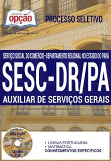 Edital do Seletivo 2016 do SESC/PA – Serviço Social do Comércio do Pará