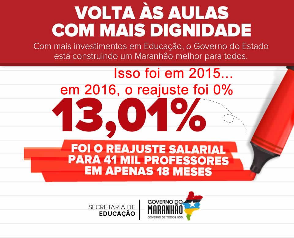 Flávio Dino faz propaganda mentirosa de valorização dos professores do Maranhão e dá calote na categoria há 7 meses