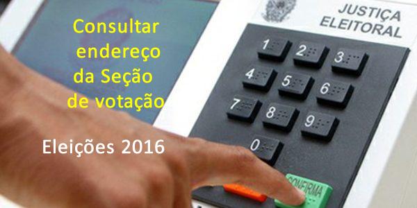 Consultar endereço do local de votação nas Eleições 2016