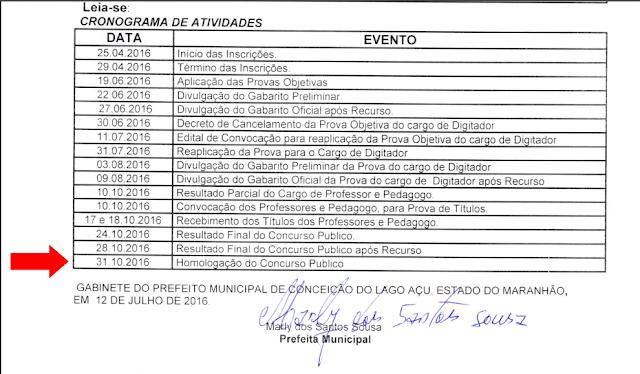 Candidatos cobram homologação do concurso 2016 de Lago Açu – MA