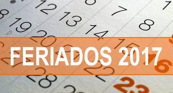 Calendário com lista de feriados 2017 para servidores do Maranhão