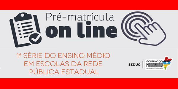 Seduc-MA: pré-matrículas 2017 para o 1º ano do ensino médio em escolas da rede estadual do Maranhão