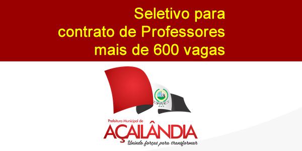 Edital do seletivo 2017 da Prefeitura de Açailândia – MA para contrato de professores
