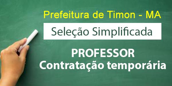 Edital do seletivo 2017 da Prefeitura de Timon – MA para contrato de professores