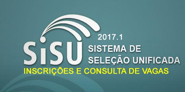Inscrições para o SiSU 2017.1, faça a sua de 24 a 29 de janeiro