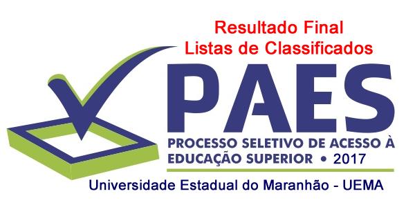 Resultado final do vestibular UEMA – PAES 2017 – Listas de classificados e consulta de desempenho individual para todos os candidatos
