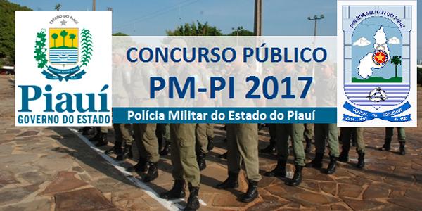 Edital do concurso 2017 da PM-PI (Polícia Militar do Piauí)