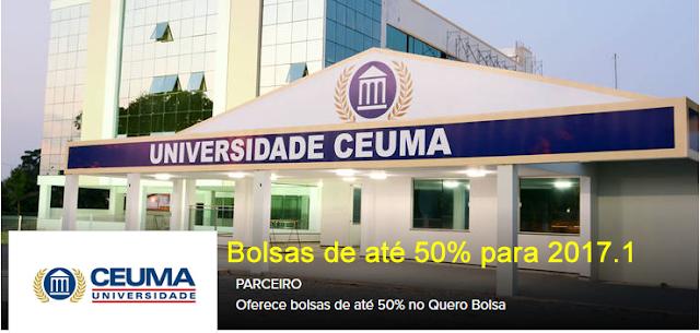 Bolsas de até 50% para cursos superiores no CEUMA em 2017.1 através do Quero Bolsa