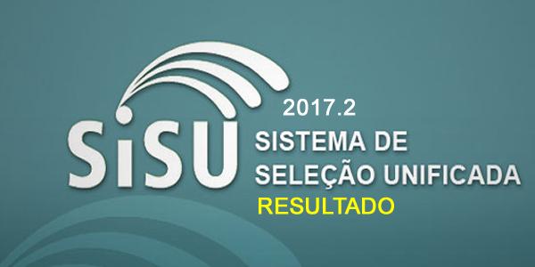 Resultado com as listas de classificados no SiSU 2017.2