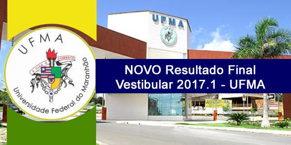 Retificação do resultado final do Vestibular 2017.1 da UFMA para cursos de graduação a distância (EaD) – NOVA Lista de classificados