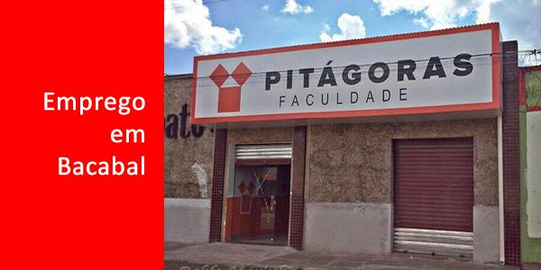 Vagas para Professor em Bacabal na Faculdade Pitágoras