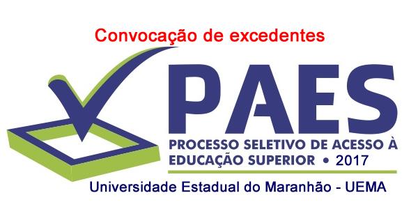 2º Convocação de excedentes do vestibular UEMA – PAES 2017 para matrícula no 2º semestre