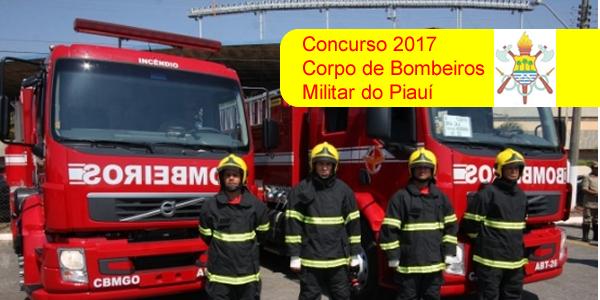 Edital do concurso 2017 do Corpo de Bombeiros do Piauí (CBMEPI)