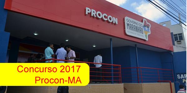 Edital do concurso 2017 do Procon-MA