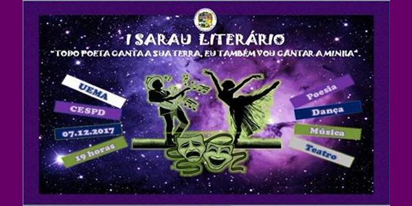 Convite para o I Sarau Literário na UEMA de Presidente Dutra – MA