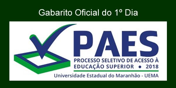 Gabarito oficial da prova do 1º dia do PAES 2018 – Vestibular UEMA e UEMASUL e as regras para classificação e eliminação