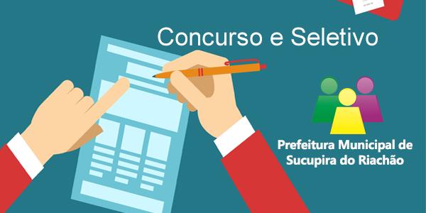 Editais do concurso e seletivo 2017 da Prefeitura de Sucupira do Riachão – MA