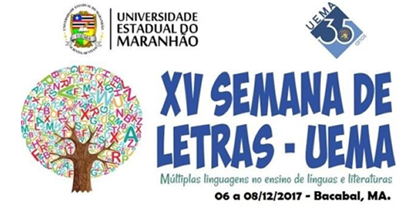Convite para a XV Semana de Letras na UEMA de Bacabal