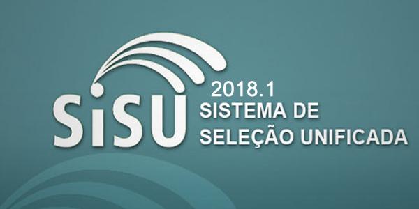 Resultado com as listas de classificados no SiSU 2018.1