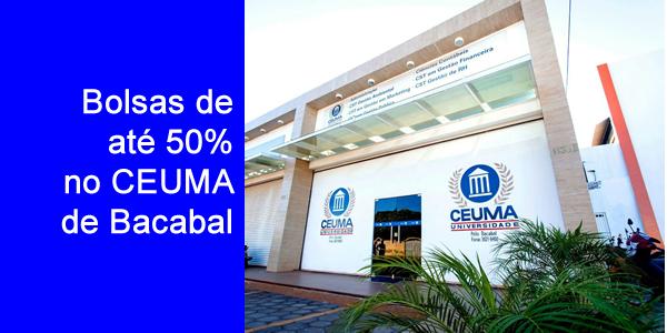 Bolsas de até 50% em cursos de graduação no CEUMA de Bacabal em 2018.1 através do Quero Bolsa