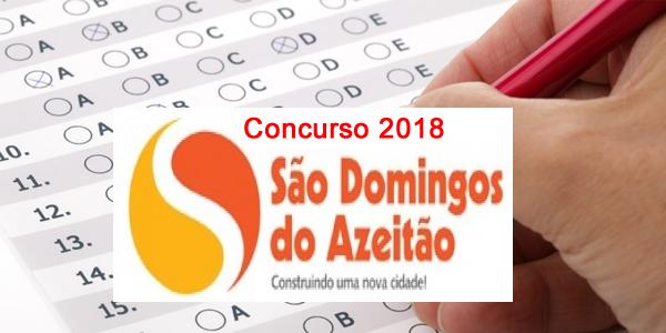 Edital do concurso 2018 da Prefeitura de São Domingos do Azeitão – MA