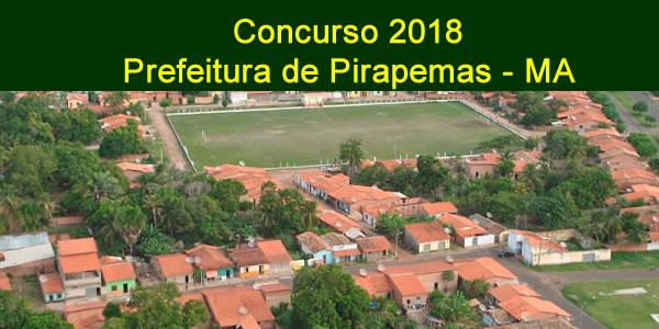 Edital do concurso 2018 da Prefeitura de Pirapemas – MA