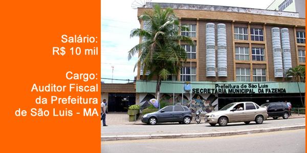 Edital do concurso 2018 da Prefeitura de São Luis – MA para Auditor Fiscal da Fazenda