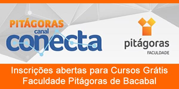 Inscrições para cursos grátis na Pitágoras de Bacabal no evento Conecta 2018