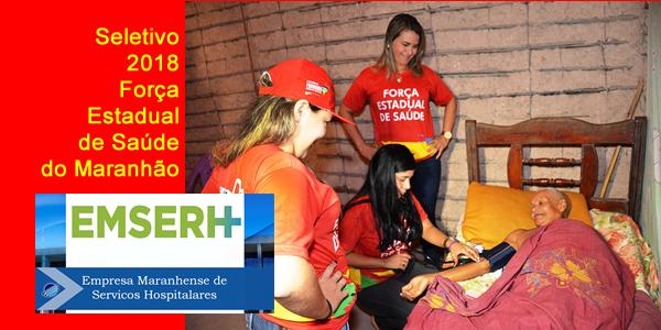 Edital do seletivo 2018 da EMSERH para a Força Estadual de Saúde do Maranhão