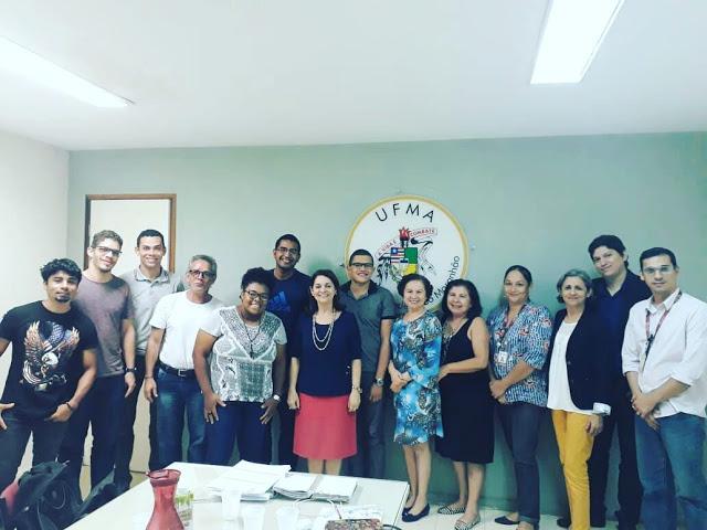 Acadêmicos da UFMA Bacabal se reúnem com a reitora Drª. Nair Portela em São Luís