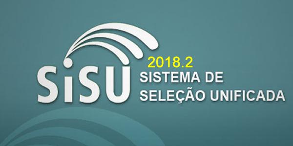 Inscrições e vagas para o SiSU 2018.2