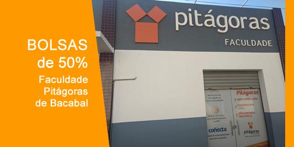 Bolsas de até 50% em cursos de graduação na Pitágoras de Bacabal em 2018.2 através do Quero Bolsa