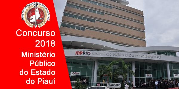 Edital do concurso 2018 do Ministério Público do Piauí