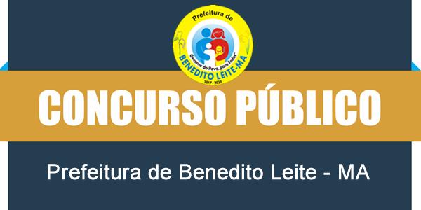 Edital do concurso 2018 da Prefeitura de Benedito Leite – MA