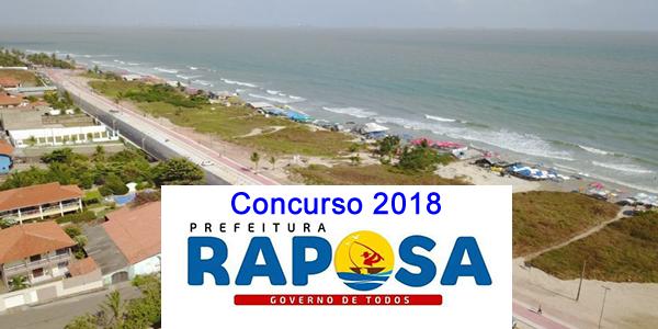 Edital do concurso 2018 da Prefeitura de Raposa – MA