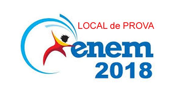 Local de prova do ENEM 2018 e cartão de confirmação de inscrição